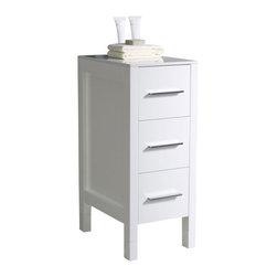 Fresca - Fresca FST6212WH Torino 12 Inches White Bathroom Linen Side Cabinet - Fresca FST6212WH Torino 12 Inches White Bathroom Linen Side Cabinet