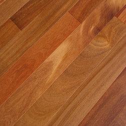 "Elegance Plyquet - Brazilian Teak Cumaru Hardwood Flooring- Sample 8"" x 3"", Cumaru Dark - This listing is for 2 pieces of wood floor samples (8"" x 3"")"