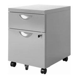 IKEA of Sweden - ERIK Drawer unit w 2 drawers on casters - Drawer unit w 2 drawers on casters, silver color