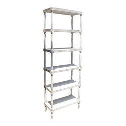 NOIR - NOIR Furniture - Isabelle Bookcase - GBCS108, White Wash - Features: