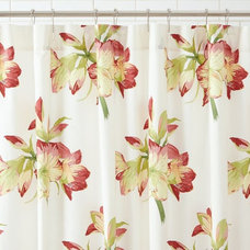 Amaryllis Organic Shower Curtain | Pottery Barn