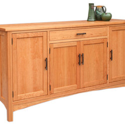 Craftsman Sideboard - For Craftsman-inspired dining rooms, a Hardwood Artisans sideboard could be the proper storage solution. We show the Craftsman sideboard in our Hampton version with one drawer with two doors under it and two doors at either end, but many other configurations are possible. Just ask.