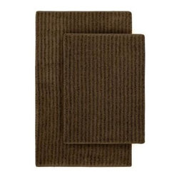 "Garland Rug - Bath Mat: Sheridan Chocolate 21"" x 34"" Bathroom 2-Piece Rug Set - Shop for Flooring at The Home Depot. Beautify your bathroom and make your feet happy with Sheridan Bath Rugs. These rugs will compliment any bathroom decor. The distinctive stripe pattern gives a modern, but yet traditional sleek design. Sheridan is made with 100% Nylon for superior softness and colorfastness. Proudly made in the USA."