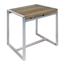 Mobital Motif Reclaimed Elm Wood End Table Rustic And