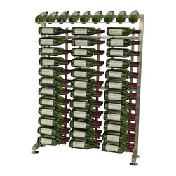 VintageView - VintageView 117 Bottle Half Aisle Wine Rack in Brushed Nickel - Store 117 bottles in this product add-on rack from VintageView. Use as a single wall wine rack unit or fill a whole wall with your favorite wines. Great for retail displays and other commercial applications. Includes all hardware you need like framing and three WS43 racks.