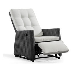 ZUO Modern - Patio Indoor Outdoor Daytona Rocking Chair in Espresso - 701374 - Daytona Collection Chair