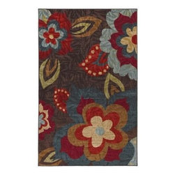 Mohawk Home - Mohawk Strata Amy Multi Floral 8' x 10' Rug (11623) - A garden for your floor, this vibrant floral pattern is both whimiscal and fun. Printed on the same machines that manufacture one of the world