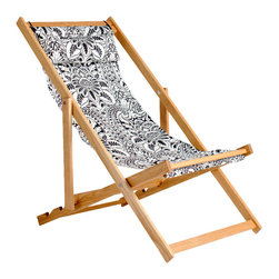 Gallant & Jones - Copacabana Deck Chair - Deck chair with Fabric Sling and Pillow