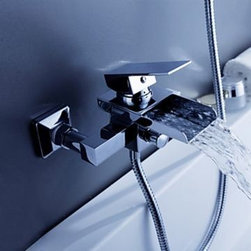 Contemporary Waterfall Tub Faucet - Wall Mount - Faucet Type	:	 Bathtub Faucet