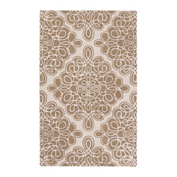 Modern Classics Rug - Driftwood Brown/White - 2' x 3' - Renowned designer Candice Olson symbolizes modern style with an effervescent spirit, and her design are easy to incorporate into interiors for an instant punch of updated design sophistication - and happiness. This playfully scaled diamond motif filled with a tangle of hand-carved loopy scribbles bridges classic and contemporary tastes in a gracious palette of driftwood brown and ivory. The plush pile of hand-tufted 100% New Zealand wool ensures a level of luxury, as well. It's available in several rectangular sizes.