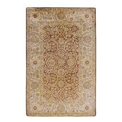 Surya - Surya Vintage Traditional Hand Tufted Wool Rug X-32-0025GTV - Muted tones and antique finishes give the rugs of the Vintage collection an aged and sophisticated look. Luxurious New Zealand Wool in rich golden browns, pale gray and soft ivory are hand tufted in intricate and traditional patterns to create a historical and timeless appearance.