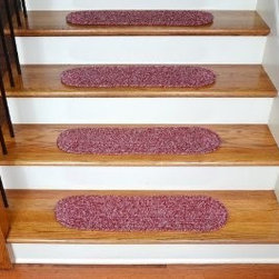 Dean Flooring Company - Dean Flooring Company Premium Braided Stair Treads - Red (13) - Dean Flooring Company Premium Braided Stair Treads - Red (13) : Beautiful Premium Braided Stair Treads by Dean Flooring Company. High quality flat braid construction. Stair treads are approximately 28 inches by 8 inches. Set includes 13 pieces. Helps prevents slips for you and your pets on your hardwood stairs (treads must be properly secured to your stairs). Provides warmth and comfort. Extends the life of your hardwood stairs. Easy do-it-yourself installation with double-sided carpet tape (Not included - sold separately)