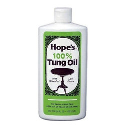 "Hope - Hope Appliance Wood Surface Cleaner 100% Tung Oil 16 Oz - Pt. - 6 Pack - The Hope Company 16TO12 1 Pint 100% Tung Oil The Hope Company 16TO12 1 Pint 100% Tung Oil Features: For a hand-rubbed low gloss finish Tung oil is an exotic, naturally drying oil imported from South America and China and is recognized by craftsmen to be the ""ultimate"" drying oil for all fine woods Unlike other finishes that sit on the woods surface, tung oil penetrates deep into wood fibers, cures, and actually becomes part of the wood Forms a low gloss ""hand rubbed"" finish thats not only beautiful, but remarkably durable Resistance to moisture and alcoholic drinks is truly amazing Oil is not thinned or diluted, it is pure 100% tung oil Pint For a hand-rubbed low gloss finish Tung oil is an exotic, naturally drying oil imported from South America and China . Recognized by craftsmen to be the ""ultimate"" drying oil for all fine woods Unlike other finishes that sit on the woods surface, tung oil penetrates deep into wood fibers, cures. . . ."