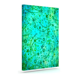 """Kess InHouse - Ebi Emporium """"Make A Wish II"""" Teal Green Wrapped Art Canvas (12"""" x 10"""") - Bring your outdoor patio to life with this artistic outdoor canvas wrap featuring gorgeous artwork by KESS InHouse. These canvases are not only easy to hang and remove but also are the perfect addition to your patio collection. These canvases are stretched around a wooden frame and are built to withstand the elements and still look artistically fabulous. Decorating your patio and walls with these prints will add the splash of art and color that is needed to bring your patio collection together! With so many size options and artwork to choose from, there is no way to go wrong with these KESS Canvas Wraps!"""