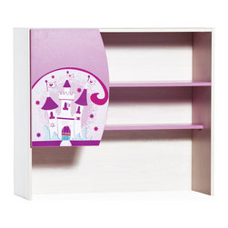 """Cilek - Princess Upper Study Unit - Princess desk straightforward and functional with birch texture. Available for purchase separately from the upper studying unit, this versatile desk is great addition to """"Pretty in Pink"""" collection."""