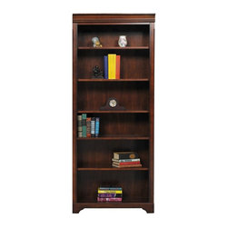 Winners Only - Country Cherry 32 in. Open Bookcase - Four adjustable shelves. One fixed shelf. Country cherry finish. 32 in. W x 15 in. D x 78.5 in. H