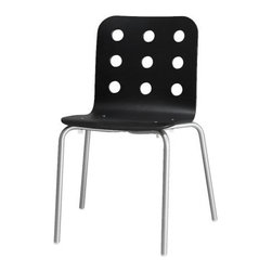 Nicholai Wiig Hansen - JULES Visitor chair | IKEA - Visitor chair, black, silver color