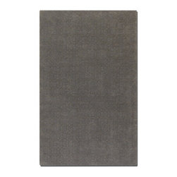 Uttermost - Uttermost Cambridge Slate Rug X-2-82037 - Over dyed slate gray wool and viscose blend, with a subtle olive geometric design.