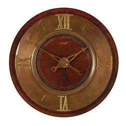 """UTTERMOST - 1896 30"""" Brass Wall Clock - Uttermost Timeworks Collection"""