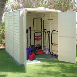 Duramax 5x8 Yardmate Vinyl Shed - Duramax 5x8 Yardmate Vinyl Shed offers great space for your patio equipment, lawn mowers. The addition of a solid resin floor will keep all your items dry and off the ground. Includes a skylight for extra light.