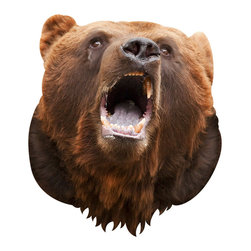 Walls Need Love - Bear, Adhesive Wall Decal - This Bear Wall Decal brings the outdoors inside. This bear decal is so realistic you should probably hang your food from a tree just to be safe. This is a 2-dimensional, adhesive wall sticker used for decorative purposes.