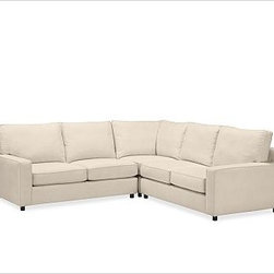 """PB Comfort Square Arm Upholstered Sectional3-Piece L-Shaped Corner SectionalEver - Built by our own master upholsterers in the heart of North Carolina, our PB Comfort Square Upholstered sectional is designed for unparalleled comfort with deep seats and three layers of padding. 107.5"""" w x 107.5"""" d x 42"""" d x 39"""" h {{link path='pages/popups/PB-FG-Comfort-Square-Arm-4.html' class='popup' width='720' height='800'}}View the dimension diagram for more information{{/link}}. {{link path='pages/popups/PB-FG-Comfort-Square-Arm-6.html' class='popup' width='720' height='800'}}The fit & measuring guide should be read prior to placing your order{{/link}}. Choose polyester wrapped cushions for a tailored and neat look, or down-blend for a casual and relaxed look. Choice of knife-edged or box-style back cushions. Proudly made in America, {{link path='/stylehouse/videos/videos/pbq_v36_rel.html?cm_sp=Video_PIP-_-PBQUALITY-_-SUTTER_STREET' class='popup' width='950' height='300'}}view video{{/link}}. For shipping and return information, click on the shipping tab. When making your selection, see the Quick Ship and Special Order fabrics below. {{link path='pages/popups/PB-FG-Comfort-Square-Arm-7.html' class='popup' width='720' height='800'}} Additional fabrics not shown below can be seen here{{/link}}. Please call 1.888.779.5176 to place your order for these additional fabrics."""