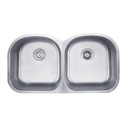 Kraus 39 Inch Undermount 50/50 Double Bowl Stainless Steel Kitchen Sink KBU28 - Add an elegant touch to your kitchen with a unique and versatile undermount sink from Kraus