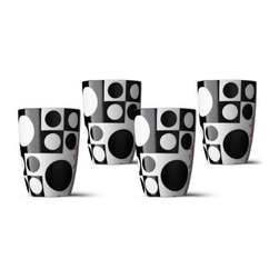 Panton Thermo Cups Black & White - This classic pattern looks great on these curved cups. I love the idea of planning a black and white table setting around them, perhaps with a burst of color coming from the centerpiece.