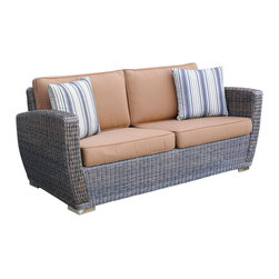 WickerParadise - All Weather Wicker Settee Galveston - When was the last time you took a nap in the sunshine? With this super comfy settee, you might start soon. An incredible upgrade from your garden variety lawn chairs, this piece ensures that you truly enjoy the great outdoors.