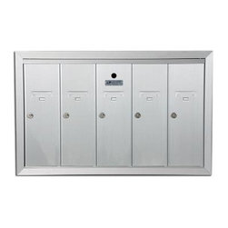 AUTH-FLORENCE - Recessed Vertical Gang Mailbox 5-Gang Aluminum - Af florence-usps approved for replacement purposes certified to usps std4b+