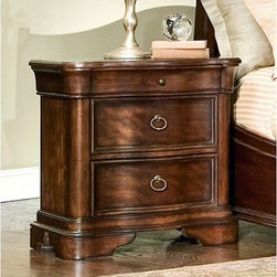 Heritage Court 3 Drawer Nightstand - Bring timeless style and valuable storage to your bedside with the Heritage Court 3 Drawer Nightstand. This lovely nightstand offers generous versatile storage with two large lower drawers and a smaller drawer above. Use this nightstand to keep remotes reading material personal effects neatly organized and within easy reach. The Heritage Court Collection captures the timeless elegance of traditional furniture design. Pieces are constructed of enduring wood and finished in a handsome dark stain that subtly draws the eye to the beauty of the wood grain. Antique brass hardware provides a lovely complement to finish each piece with balance and character. About Legacy Classic FurnitureCommitted to offering the best of today's youth-bedroom styles for the young and young at heart Legacy Classic Furniture offers a wide selection of best selling designs and finishes with a large variety of beds and storage and study options. Dedicated to providing outstanding quality at reasonable prices Legacy Classic Furniture employs quality materials proven construction techniques and the highest safety standards to manufacture exceptional products that are built to last a lifetime.