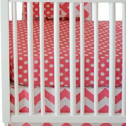 New Arrivals Inc. - Chevron Zig Zag Baby Hot Pink Crib Bedding Set 3-Piece by New Arrivals Inc. - The Zig Zag Baby Hot Pink Crib Bedding Set by New Arrivals Inc, along with the Zig Zag Hot Pink bedding accessories.