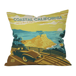DENY Designs - Anderson Design Group Coastal California Throw Pillow - Wanna transform a serious room into a fun, inviting space? Looking to complete a room full of solids with a unique print? Need to add a pop of color to your dull, lackluster space? Accomplish all of the above with one simple, yet powerful home accessory we like to call the DENY throw pillow collection! Custom printed in the USA for every order.