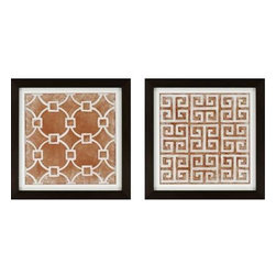 Paragon Art - Paragon Modern Symmetry II ,Set of 2 - Artwork - Modern Symmetry II ,Set of 2   ,  Paragon Exclusive            Textured Giclee      Artist is Zarris , Paragon has some of the finest designers in the home accessory industry. From industry veterans with an intimate knowledge of design, to new talent with an eye for the cutting edge, Paragon is poised to elevate wall decor to a new level of style.