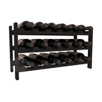 18 Bottle Stackable Wine Rack in Redwood with Black Stain - Expansion to the next level! Stack these 18 bottle kits as high as the ceiling or place a single one on a counter top. Designed with emphasis on function and flexibility, these DIY wine racks are perfect for young collections and expert connoisseurs.