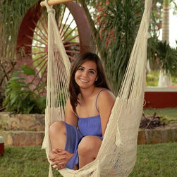 Outdoor Classics - Outdoor Classics Large Mayan Chair Hammock With Wood Bar -