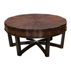 American Drew - American Drew Miramar Round Cocktail Table in Auburn - Round Cocktail table in Auburn belongs to Miramar collection by American Drew