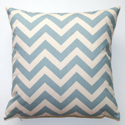 Premier Prints Village Blue Chevron Pillow Cover by Modernality 2 - You'll need some pillows to cozy up on for story time, and I still love Premier Prints Village Blue Chevron.