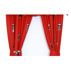 College Covers - NCAA Texas Tech Drapes Collegiate Window Curtains - Features: