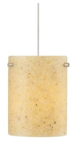 LBL Lighting - LBL Lighting Flurry Amber 50W Monopoint 1 Light Track Pendant - LBL Lighting Flurry Amber 50W Monopoint 1 Light Track PendantAdd naturalistic beauty to your home or business with this unique pendant featuring an Oatmeal textured resin cylinder shade with fine embedded onyx accents. The included 50 watt xenon bulb creates the perfect amount of lighting for any locale.Each Monopoint lighting fixture includes a single-point canopy with built-in transformer right out of the box for a quick and easy installation.LBL Lighting Flurry Amber 50W Monopoint Features: