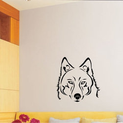 StickONmania - Wolf Design #1 Sticker - A cool vinyl decal wall art decoration for your home  Decorate your home with original vinyl decals made to order in our shop located in the USA. We only use the best equipment and materials to guarantee the everlasting quality of each vinyl sticker. Our original wall art design stickers are easy to apply on most flat surfaces, including slightly textured walls, windows, mirrors, or any smooth surface. Some wall decals may come in multiple pieces due to the size of the design, different sizes of most of our vinyl stickers are available, please message us for a quote. Interior wall decor stickers come with a MATTE finish that is easier to remove from painted surfaces but Exterior stickers for cars,  bathrooms and refrigerators come with a stickier GLOSSY finish that can also be used for exterior purposes. We DO NOT recommend using glossy finish stickers on walls. All of our Vinyl wall decals are removable but not re-positionable, simply peel and stick, no glue or chemicals needed. Our decals always come with instructions and if you order from Houzz we will always add a small thank you gift.