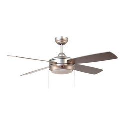"Ellington Fans - Ellington Fans Laval-52 Modern Indoor 4 Blade 52"" Ceiling Fan with Light Kit - Ellington Fans Laval-52 Modern Indoor 4 Blade 52"" Ceiling Fan with Light KitGive a sophisticated presentation to your room with the Laval Ceiling Fan from the Modern Collection by Ellington Fans. The fan is a simple way to create the appearance that you've been looking for.Current, fresh, and sophisticated. Ellington Fans Modern Collection is that unexpected edge that is sure to stand out in a crowd. Let your confidence radiate, while your style envelops your space.Ellington Fans Laval-52 Features:"