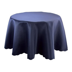 "Xia Home Fashions - Samantha Collection, Navy Blue, 72"" Round - These solid color table liners are a great foundation for your exquisitely planned setting! Available in red, blue, ivory, white, green, gold, coffee and black; there is sure to be a color for any occasion!"