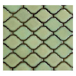 "GL Stone - Wave Shaped Ceramic Tile 10"" x 11"" , Mint Green, 1 Carton ( 15 Sheets ) - The mint green wave shaped ceramic tile Its stunning design and unique pattern will bring warmth and a natural ambiance to your interior decor. The mesh backing not only simplifies installation, it also allows the tiles to be separated which adds to their design flexibility. Each sheet measures 10"" x 11""  (0.76 sq. ft.) This ceramic wall tiles are perfect for any interior or exterior projects such as kitchen backsplash, bathroom wall, shower surround, countertop, dining room, entryway, etc."