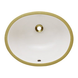 "MR Direct - Porcelain Bathroom Sink - The UPS-Bisque porcelain undermount sink is made from true vitreous China which is triple glazed and triple fired to ensure your sink is durable and strong. Our bisque color is a beige hue that contains a yellow tint. Undermounting a bathroom sink creates a sleek look and allows for more space on your countertop. The overall dimensions for the UPS-B are  and requires an 18"" minimum cabinet size. Pop-up drains in a variety of finishes are available with this sink model. As always, our porcelain sinks are covered under a limited lifetime warranty for as long as you own the sink."