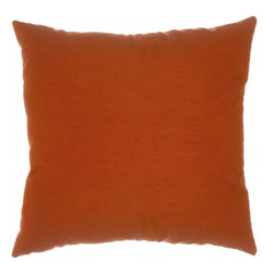 """Sunbrella® 24""""x24"""" Square Designer Pillow, Canvas Brick - Making the best relaxation that much better! Soft. Plush. Vibrant. Attractive. Durable. Colorfast. These pillows promise lasting outdoor comfort you won't want to take your eyes or head off of! The stylish 24""""x24"""" Sunbrella® Canvas Brick Square Designer Pillow is sure to liven up any backyard and to provide instant comfort for relaxation. Perfect for hammocks, benches, chairs, sofas, futons, chaise lounges, and more."""