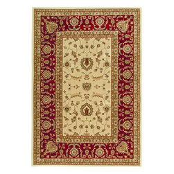 """Orian - Orian American Heirloom Osman (Ivory) 5'3"""" x 7'6"""" Rug - American Heirloom Collection, Orian Rugs' flagship collection is inspired by classic, hand-woven oriental rugs that combine understated elegance with classic style. The 1.5 million point design construction is densely woven with Orian's finest-denier yarns creating unparalleled visual dimension and pin point design clarity."""