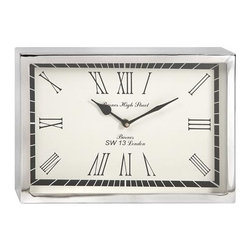 iMax - Wadsworth Small Wall Clock - This contemporary, art decor inspired wall clock will bring a sophisticated touch of mid-century aesthetic to office or home right on time.