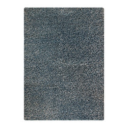 """MAT Orange Cosmo Aqua Rug - 5'2""""x7'6"""" - The rugs in this collection are all inspired by urban lanandscapes, making way for a statement where texture, shape, and line are the form. The rug's texture and the marriage of colors speak to the contemporary room. """"It is the art piece on the floor.  Because of the artistic quality ofThe rugs they are easily used in modern as well as traditional interiors. Pile Height:2 Inches"""