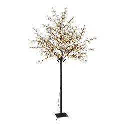 Lightshare - Lightshare 8Ft 600 LED Cherry Blossom City Tree, 70 LED Solar Light - Description: